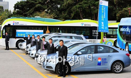 [포토] 'G20 정상회의 기간 전기차가 달린다~'