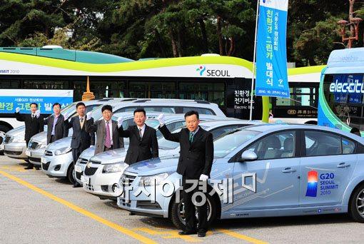[포토] 'G20 정상회의에 전기차 총 출동~'