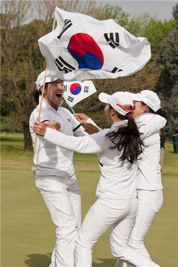 [AG 골프] 한국, 금메달 4개 '싹쓸이~'