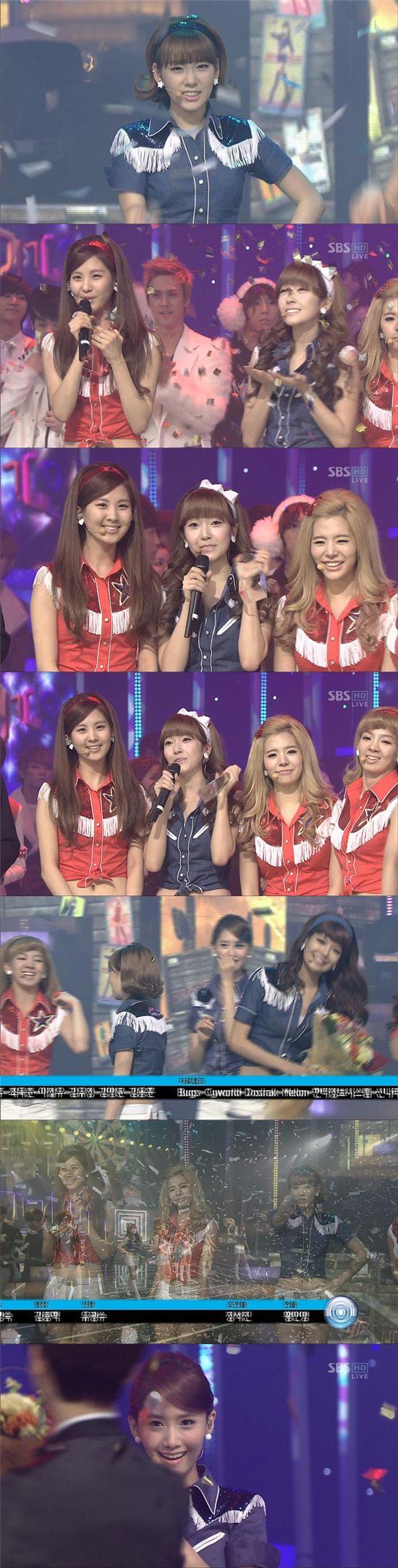 """소녀시대, """"(티)파니야 또 1위 했어"""" 3주 연속 공중파 석권"""