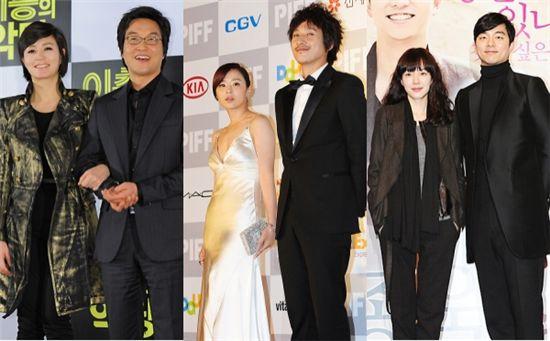 (왼쪽부터) 김혜수 한석규 최강희 이선균 임수정 공유