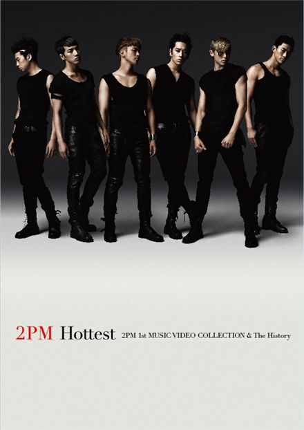 "Cover of 2PM's DVD ""Hottest~2PM 1st Music Video Collection & The History~"" [JYP Entertainment]"