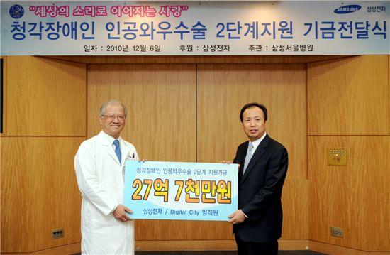 [포토]삼성전자, 청각장애우 수술 지원 기금 전달