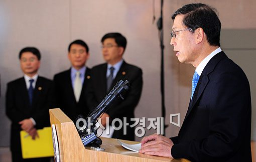 [포토] 연평도 관련 담화문 발표하는 김황식 총리