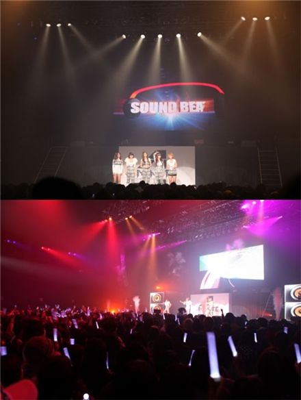 "Korean girl group 4minute at their second concert ""4Minute LIVE Energy Vol. 2 DIAMOND"" held at the Zepp Tokyo on December 4. [Cube Entertainment]"