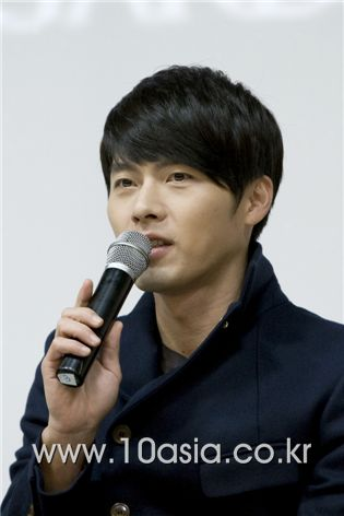 "Actor Hyun Bin speaks at a press conference for SBS TV series ""Secret Garden"" held at the Maiim Vision Village in the Gyeonggi Province of South Korea on December 8, 2010. [Lee Jin-hyuk/10Asia]"
