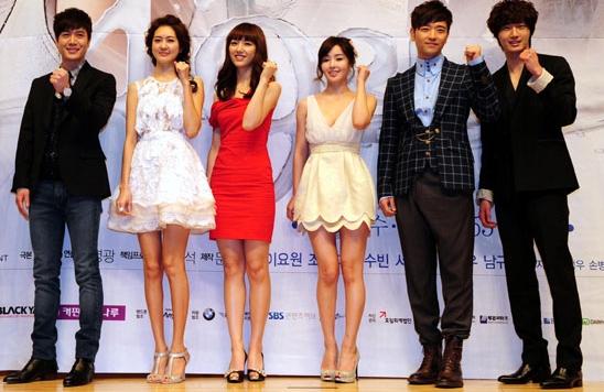 "Main casts of SBS series ""49 Days"" - starting from left: Jo Hyun-jae, Lee Yo-won, Seo Ji-hye, Nam Kyu-lee, Bae Soo-bin and Jung Il-woo [SBS]"
