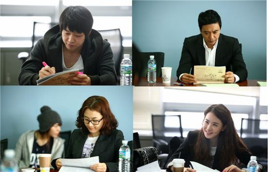 JYJ member Yuchun (top left), actor Kim Seung-woo (top right), actress Kang Hye-jung (botton left) and Lee Da-hye (bottom right) [3HW]
