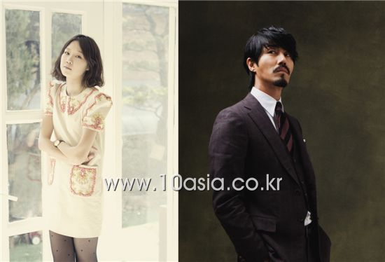 Korean actress Kong Hyo-jin (left) and actor Cha Seung-won (right) [10Asia]