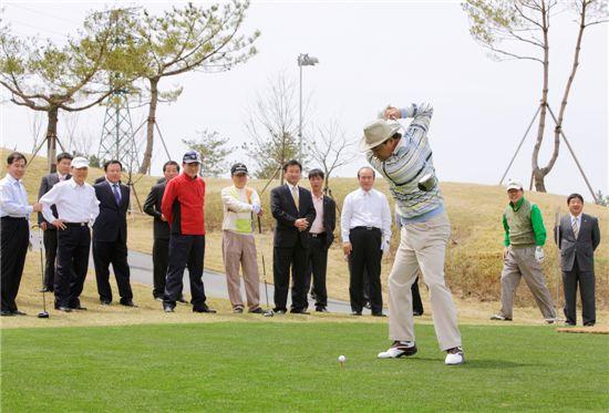 대천웨스토피아 골프장 시범라운딩 모습.