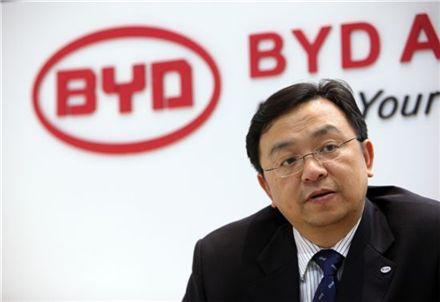 중국 전기자동차 배터리 제조업체 BYD의 왕촨푸 회장(사진=블룸버그뉴스).