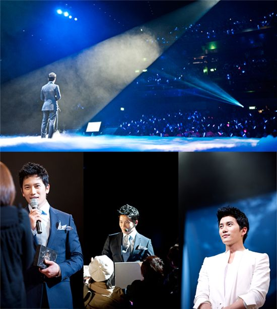 Actor Ji Sung held a fan meeting in Tokyo, Japan on May 9, 2011. [Namoo Actors]