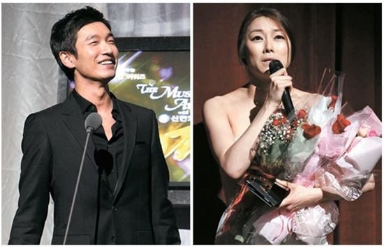 Korean musical actor Cho Seung-woo (left) and actress Cha Ji-yeon (right) [The Musical Awards]