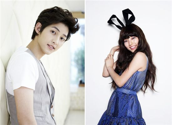 Actor Song Joong-ki (left) and Bae Suzy (right) from girl group miss A [CJ E&M]