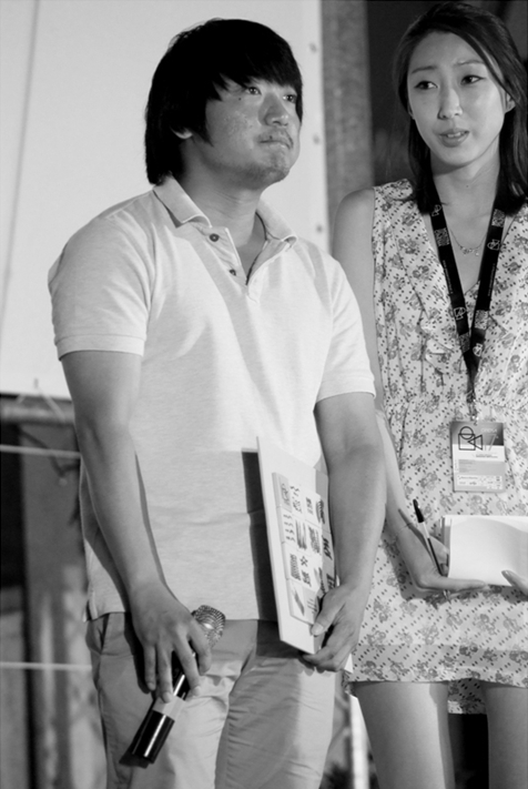 Korean director Park Jung-bum at the 47th annual Mostra Internazionale del Nuovo Cinema held at Pesaro of Italy from June 19 to 27, 2011. [Official website of Mostra Internazionale del Nuovo Cinema]