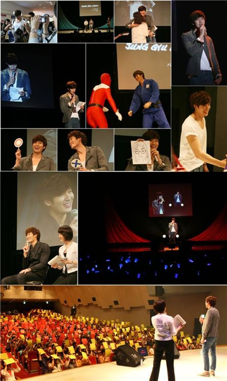 Jung Gyu-woon at his second fan meeting in Japan on August 13, 2011. [fantagio]