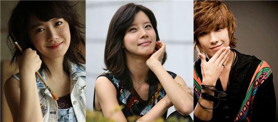 Ku Hye-sun (left), Yoo Sun (middle) and MBLAQ's Lee Joon (right) [YG Entertainment/Yedang Entertainment/J.Tune Camp]
