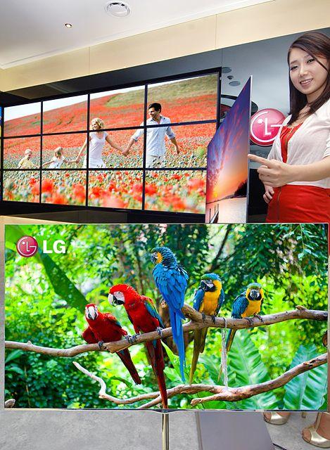 LG전자가 1일 공개한 세계최대 크기 55인치 3D OLED TV.