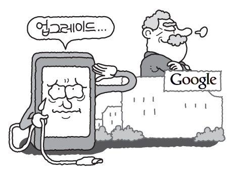 """갤럭시S OS 업그레이드 """"구글이 책임져"""""""