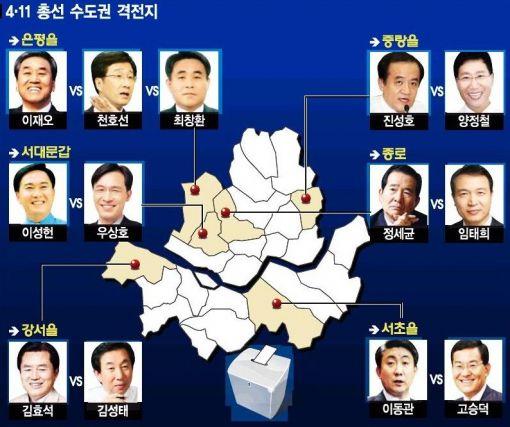 강남은 '눈터지는 與與 전쟁'