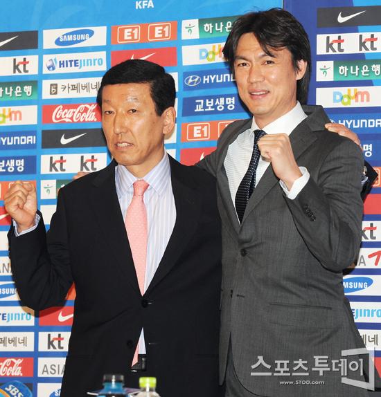 [포토] 최강희-홍명보 '함께 뛴다 한국 축구'