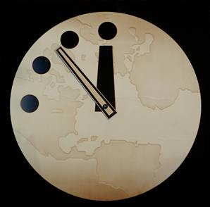 인류 '운명의 날 시계', 1분 당겨져 11시 55분