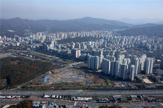 수직증축 리모델링 수혜 지역으로 꼽히는 경기 성남 분당신도시 전경