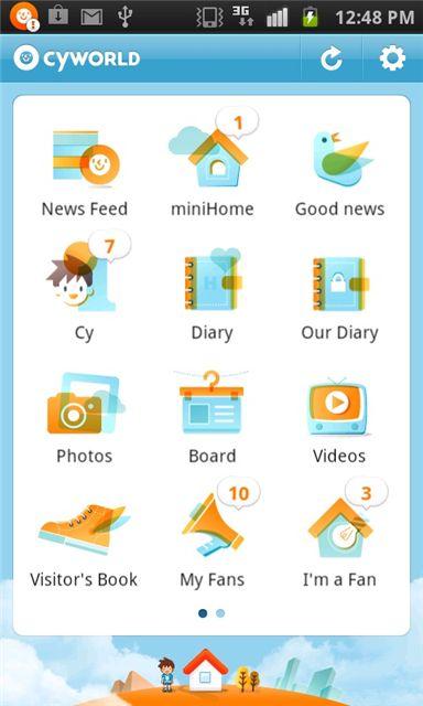 SK컴즈, 글로벌 싸이월드 애플리케이션 출시