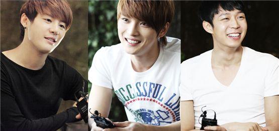 JYJ (from left to right) Junsu, Jaejoong, Yuchun [C-JeS Entertainment]