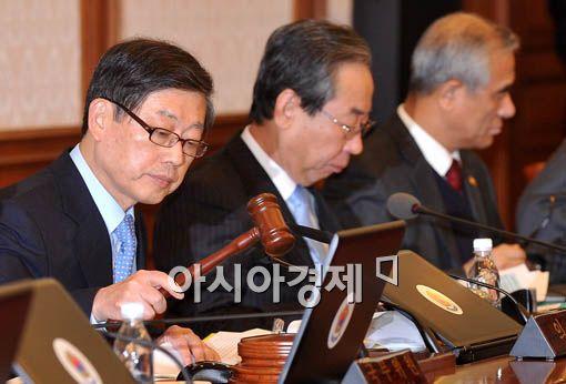[포토] 의사봉 두드리는 김 총리