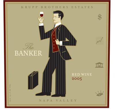 ▲ 나파밸리 와인, 금융인 전문가 시리즈 '더 뱅커' 라벨
