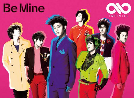 "Album cover of INFINITE's 2nd Japanese single ""Be Mine"" [INFINITE's official Japanese website]"