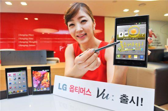 LG전자 '옵티머스 뷰' 출시···5인치 경쟁 점화