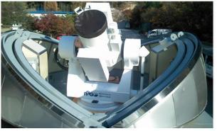 천문연구원에 설치된 SLR 추적마운트.