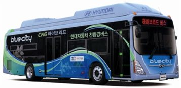 현대차가 개발한 CNG하이브리드 버스