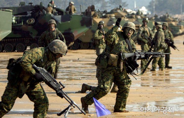 ▲ '키 리졸브' 한미합동군사훈련에 참여한 미군 병사들