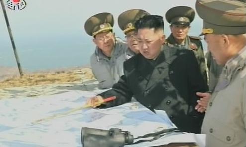 ▲ 김정은 북한 국방위원회 제1위원장이 군 부대를 시찰하는 모습(자료사진)