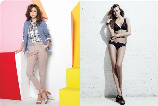 ▲GS샵이 22일 선보이게 될 VIKI 봄 신상품(사진 왼쪽)과 24일 방송하는 코데즈컴바인 10주년 리미티드 에디션.