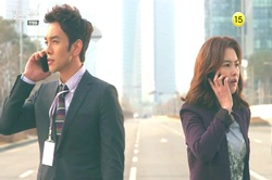 """A scene from tvN's """"The Wedding Scheme"""" aired on April 2 [tvN]"""