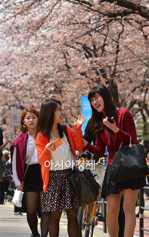 [포토] 봄나들이 즐기는 시민들