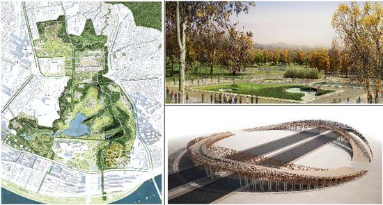 용산공원 국제설계공모에서 1등작으로 선정된 '미래를 지향하는 치유의 공원'