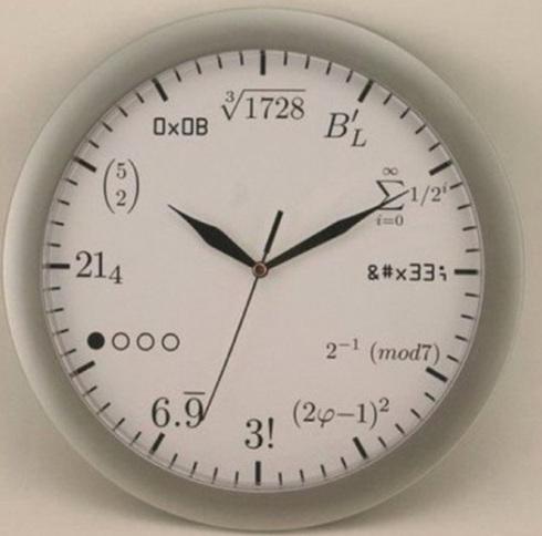 수학 교수 전용시계(출처: 온라인 커뮤니티)