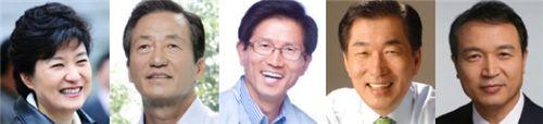 왼쪽부터 박근혜 위원장, 정몽준 의원, 김문수 지사, 안상수 전 인천시장, 임태희 전 실장