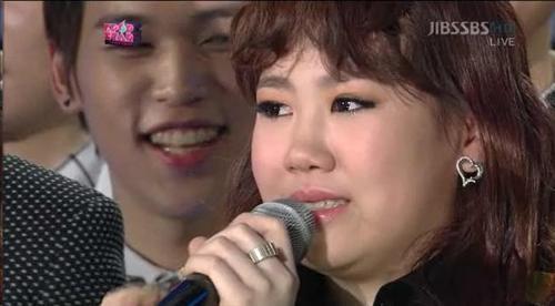 K팝스타 우승자로 선정된 박지민 양.(출처 : SBS 방송 캡쳐)