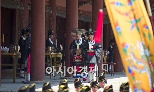 """[포토] 세계 무형문화유산 """"종묘대제"""" 재현"""