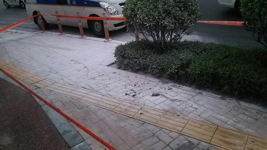 분신 현장 사진(출처 : 페이스북@장우식)