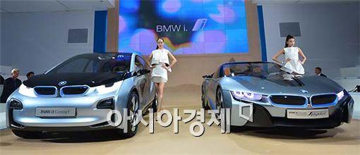 ▲삼성SDI가 배터리를 공급한 BMW i3, i8