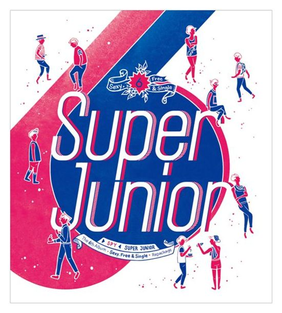 """Cover photo of Super Junior's repackaged version of their 6th album, """"SPY"""" [SM Entertainment]"""