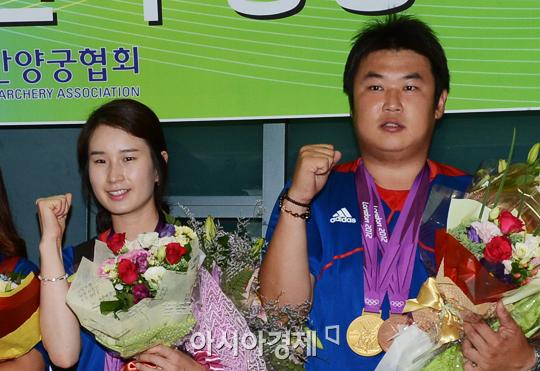 '양궁 커플' 오진혁-기보배, 전국체전 동반 금메달