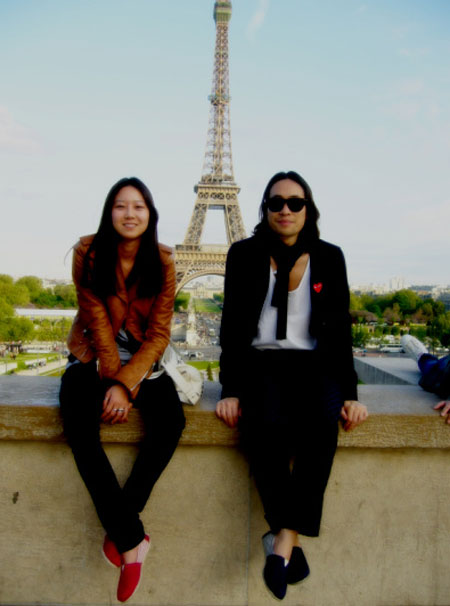 Actress Kong Hyo-jin (left) and actor Ryoo Seung-bum (right) during the trip to Paris, France. [Ryoo Seung-bum's official Cyworld]